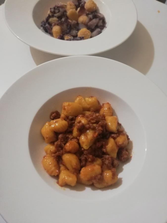 Ķirbju gnocchi